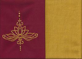 Lotusblüte Rot + Ockergelb
