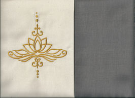 Lotusblüte Naturweiß + Steingrau