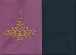 Lotusblüte Altrosa + Marine