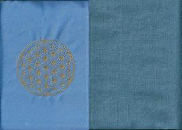 Blume des Lebens Hellblau+ Schwedenblau