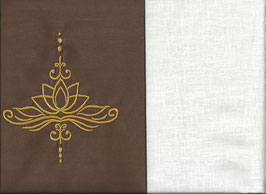 Lotusblüte Braun + Creme