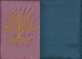 Lebensbaum Altrosa + Rauchblau
