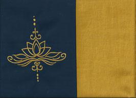 Lotusblüte Marine + Ockergelb