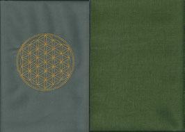 Blume des Lebens Grau + Moosgrün