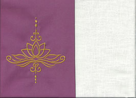Lotusblüte Altrosa + Creme