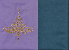 Lotusblüte Flieder + Rauchblau
