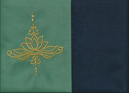 Lotusblüte Mintgrün + Marine