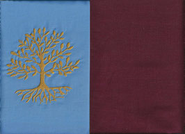 Lebensbaum Hellblau + Bordeaux