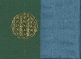 Blume des Lebens Grün + Schwedenblau