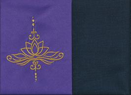 Lotusblüte Lila + Marine