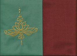 Lotusblüte Mintgrün + Rostrot