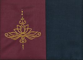 Lotusblüte Bordeaux + Marine