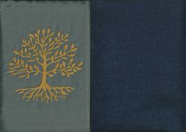 Lebensbaum Grau + Marine