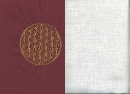 Blume des Lebens Bordeaux + Creme