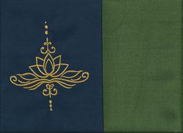 Lotusblüte Marine + Moosgrün
