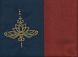 Lotusblüte Marine + Rostrot