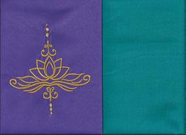 Lotusblüte Lila + Smaragt