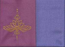 Lotusblüte Altrosa + Flieder