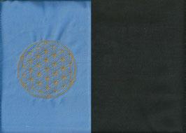 Blume des Lebens Hellblau+ Schokobraun