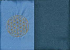 Blume des Lebens Hellblau+ Rauchblau