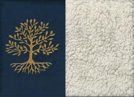Lebensbaum Marine + Baumwollplüsch