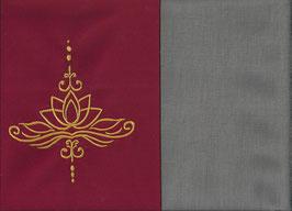 Lotusblüte Rot + Steingrau