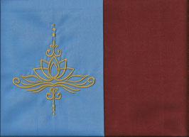 Lotusblüte Hellblau + Rostrot