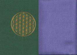 Blume des Lebens Grün + Flieder