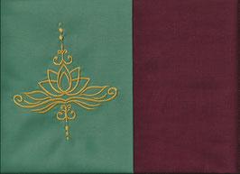Lotusblüte Mintgrün + Bordeaux