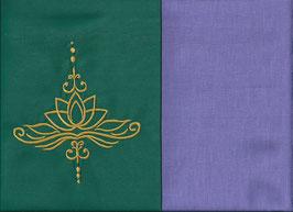 Lotusblüte Grün + Flieder