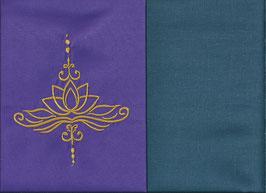 Lotusblüte Lila + Rauchblau