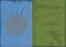 Blume des Lebens Hellblau+ Pistazie