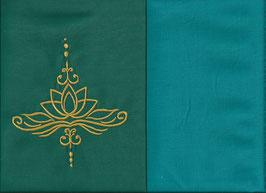 Lotusblüte Grün + Smaragt