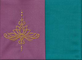 Lotusblüte Altrosa + Smaragt