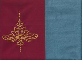 Lotusblüte Rot + Schwedenblau