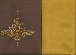 Lotusblüte Braun + Ockergelb