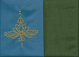 Lotusblüte Blau + Moosgrün