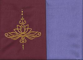 Lotusblüte Bordeaux + Flieder