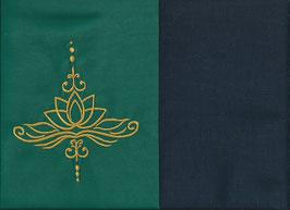 Lotusblüte Grün + Marine