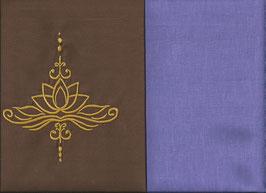 Lotusblüte Braun + Flieder