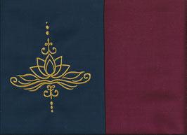 Lotusblüte Marine + Bordeaux
