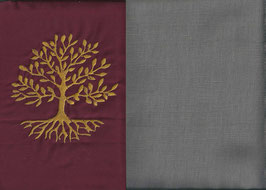 Lebensbaum Bordeaux + Steingrau