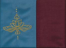 Lotusblüte Blau + Bordeaux