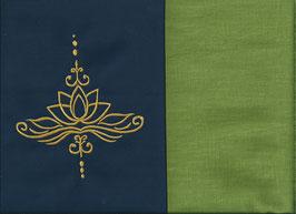 Lotusblüte Marine + Pistazie