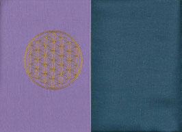Blume des Lebens Flieder + Rauchblau