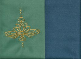 Lotusblüte Mintgrün + Rauchblau