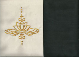 Lotusblüte Naturweiß + Schokobraun