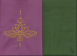 Lotusblüte Altrosa + Moosgrün