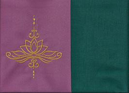 Lotusblüte Altrosa + Petrol