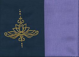 Lotusblüte Marine + Flieder